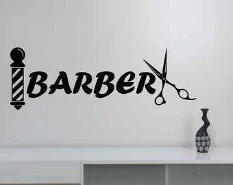 Barbershop Vinyl Decal Custom Wall Sticker Logo Art Barber's Hair Haircut Hairdressing Salon Window Decorations Interior Decor bsh3