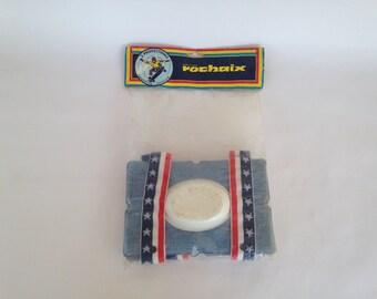 Vintage Skateboard pads ROCHAIX / original packaging / knee pad French manufacturing