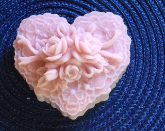 Hearts for Paws-Rose/Peony - Goats Milk- Glycerin Soap