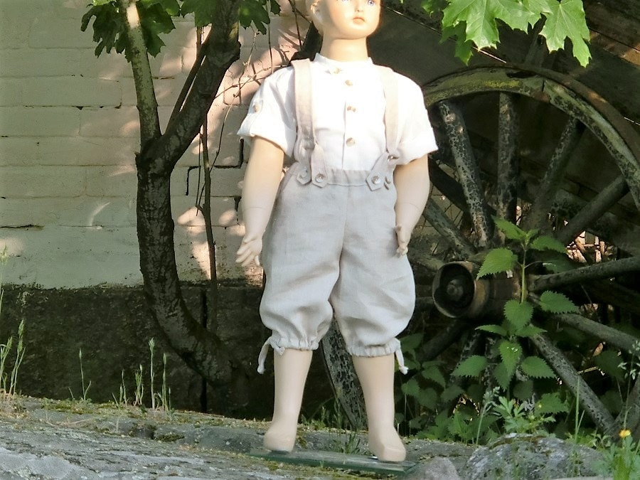 Bohemian ring bearer outfit. Boys suspender outfit. Toddler