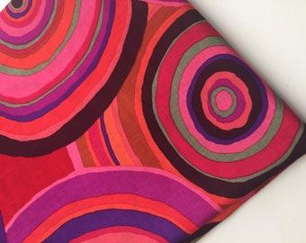 Kaffe Fassett Targets Red Fabric, GP67, Rare, Retired Design, OOP, HTF