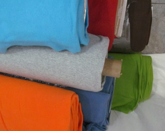 Fleece Fabric Solid Colors BTY - green, orange, aqua, French blue, black, red to use for ponchos, scarves, mittens or blankets