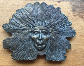 Headdress belt buckle ~ First Nations ~ Cheif ~ Native American ~