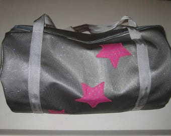 Gym bag in faux glitter large format - to order