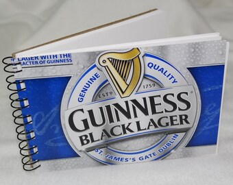 Spiral Notepad from Recycled Guinness Black Lager 6-Pack Beer Carton
