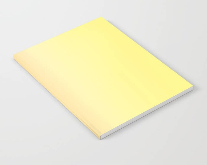 Yellow Notebook - Yellow to Orange Ombre - Blank Book - Lined - Unlined - Made to Order