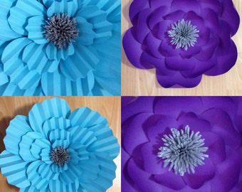 Little Mermaid Large Paper Flowers-Backdrop-Wedding Arch-Photo Booth-Flower Wall-Birthday Pary-Nursery Art-Bridal Shower-Prince