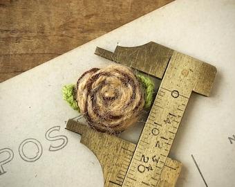 Brown Flower Applique | Crocheted Flower | Floral Applique | Brown Floral | Fabric Flower Applique | Small Fabric Flower | (10pcs) A33
