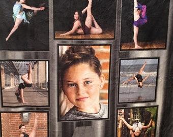 Dance Photo Blanket, Dance Blanket, Dancer Blanket, Custom Dance Blanket, Dance Mom, Dance Gift, Dancer Gift, Photo Blanket, Custom Blanket