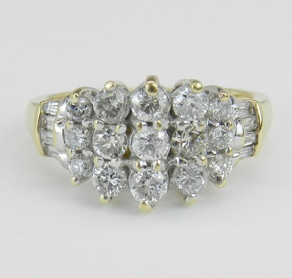 Diamond Anniversary Band Wedding Ring .75 ct 14K Two Tone Gold Size 6