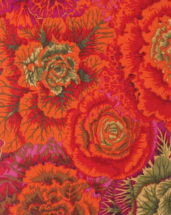 BRASSICA RUST Fall 2015 Philip Jacobs for Kaffe Fassett Collective Sold in 1/2 yd increments