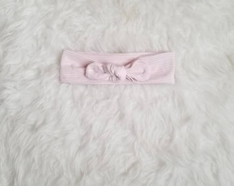 Striped top knot headband, top knot headband, baby girl headband, newborn knotted headband, baby girl bow