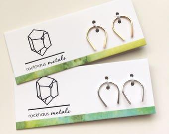 Mini Arc Earrings | Earrings | Sterling Silver Earrings | 14k Gold Fill Earrings | Rockhaus