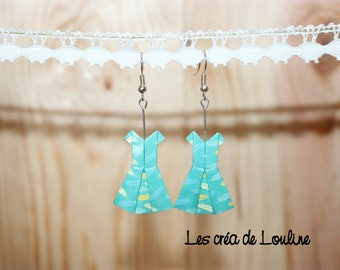 Feathered origami dress earrings