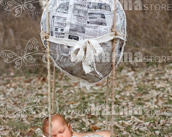 Balloon Basket Newborn or Pet Digital Photography Background PSD File 346