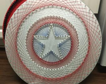 Captain America Shield String Art