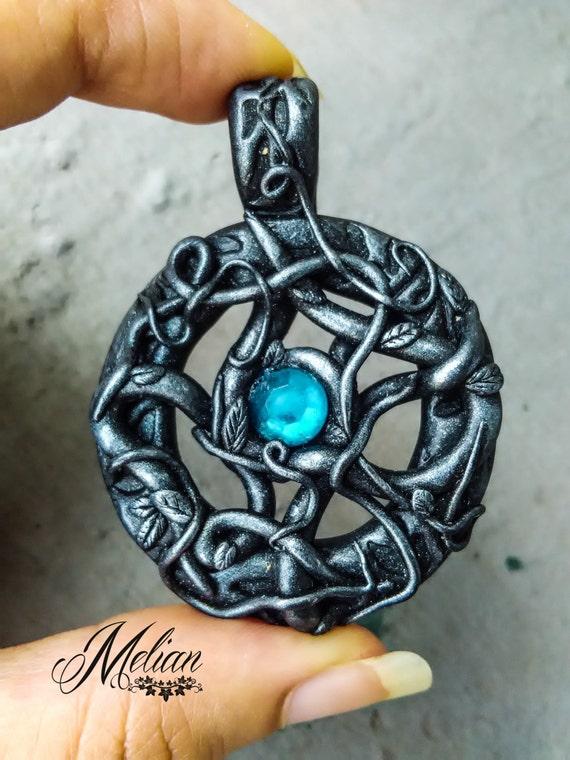 Gothic amulet fantasy pendant witch pendant dark fantasy like this item mozeypictures Images
