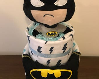 Batman nappy cake