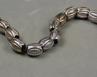 Large hole Pewter Beads Lead free beads Antique Silver color 8 inch strand 22 pcs BeadCityGlass 3.00/strand