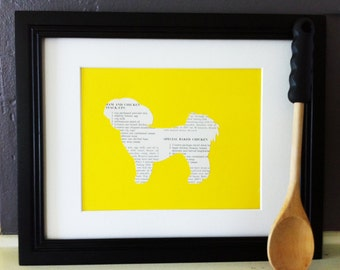 Chicken Recipes - Shih Tzu Dog Vintage Silhouette