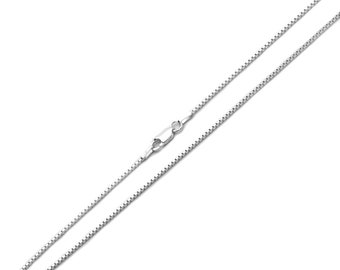 Men Women Sterling Silver 1.2mm Italian Box Chain Necklace / Free Gift Box(ZSCP610336)