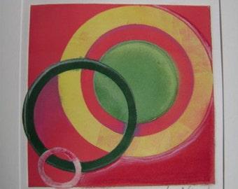 circle monotype print