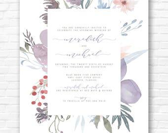 Botanical Floral Invitation