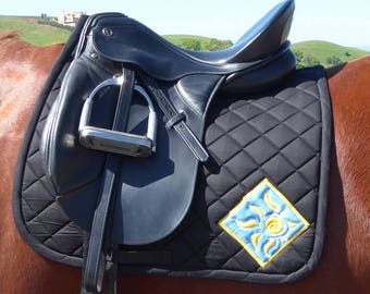 Be Best! Black Dressage Saddle Pad for English Saddles from The Daylight Collection DD-71