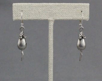 Mouse Tails Earrings - with movable tails!