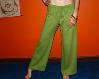 hemp pants - yoga pajama lounge pants - 100% hemp and organic cotton - custom made to order - hand dyed - unisex