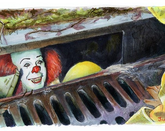 It - They All Float Down Here Poster Print