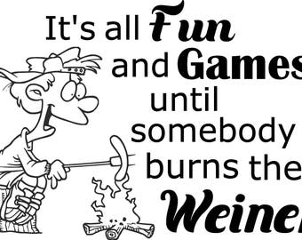 SVG: It's all fun and games until somebody bur their weiner.