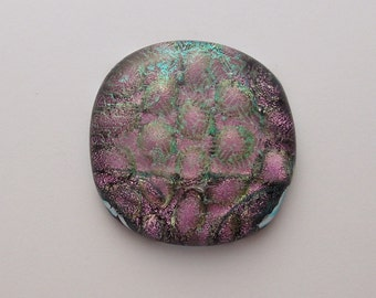 Dichroic Fused Glass Cabochon - Gem Stone - Cabochon Cab - Bead Supply- Glass Bead - Wire Wrapping - Jewelry Making - Stained Glass 5641