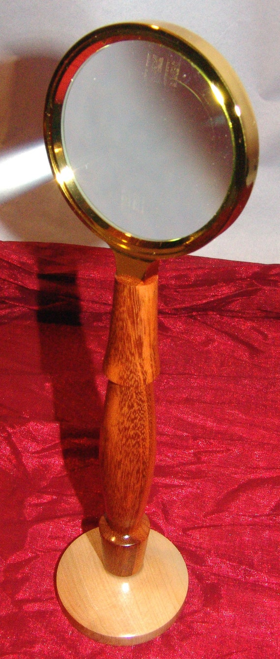 Standing Desk Magnifying Glass – Vintage Look – Goncalo Alves and Birch - 08-18 FREE SHIPPING!!