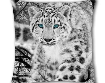 Snow Leopard Design Cushion Cover (SB782)