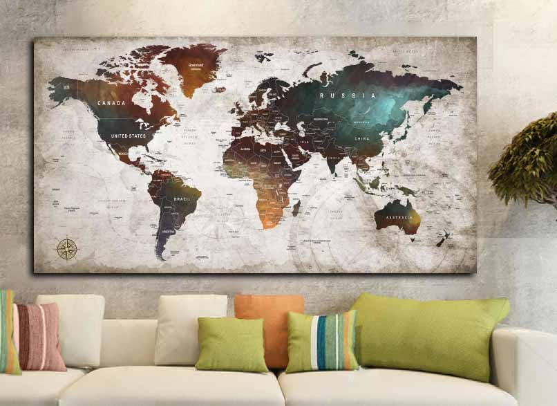 World map posterworld map decalworld map canvas panelworld map world map posterworld map decalworld map canvas panelworld map printworld map artworld map wall artpush pin map postertravel map art gumiabroncs Image collections