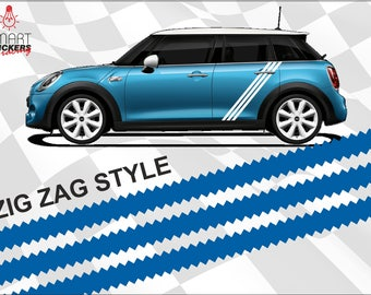 Look Adidas Style Fiat & Mini Cooper Edition Racing Stripes Side Decals