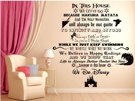 We Do Disney Vinyl wall decal ....EDE00018  sc 1 st  Etsy & In This House.... We Do Disney Vinyl wall decal ....EDE00018