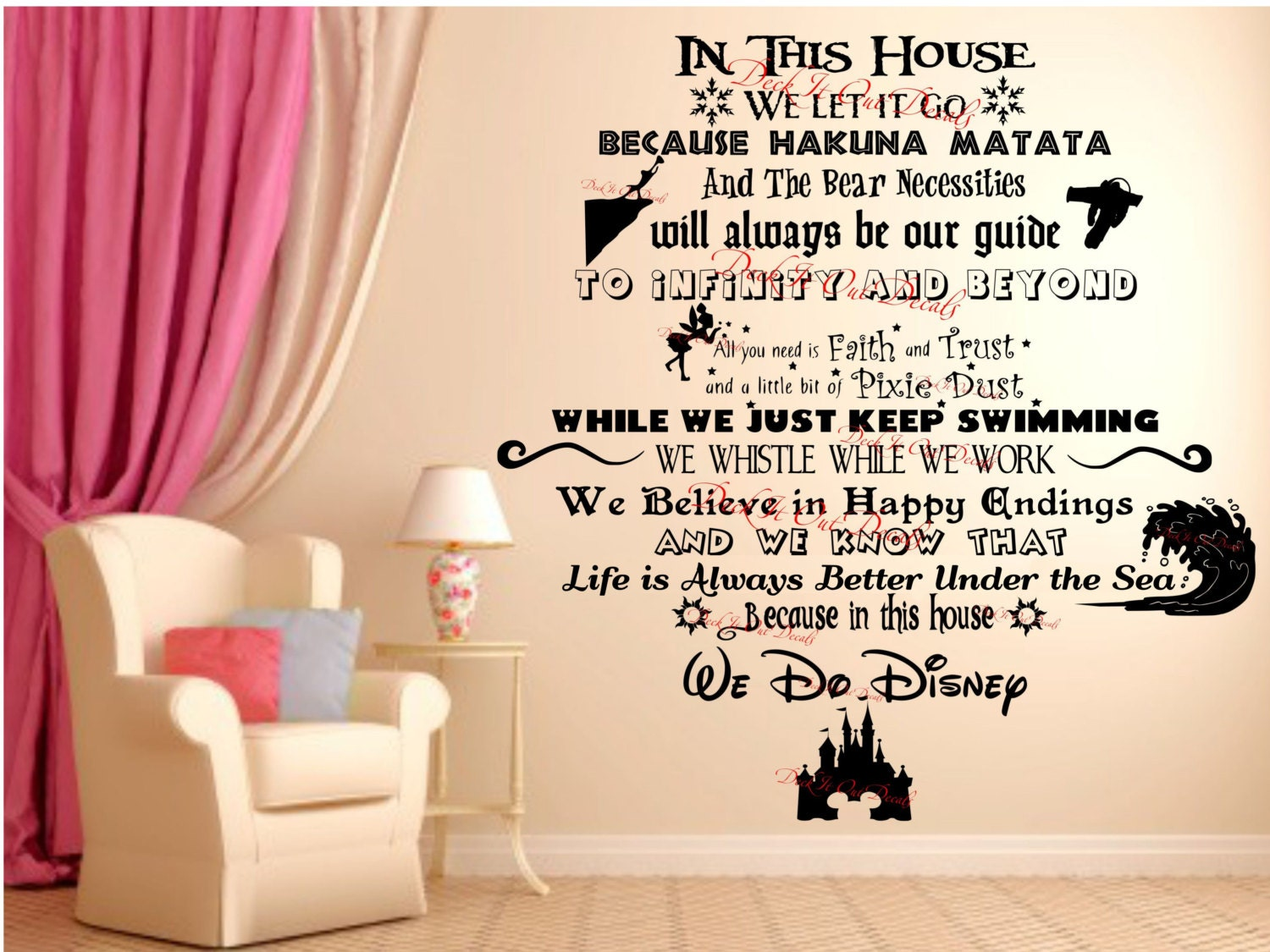 In This House.... We Do Disney Vinyl Wall Decal ....EDE00018