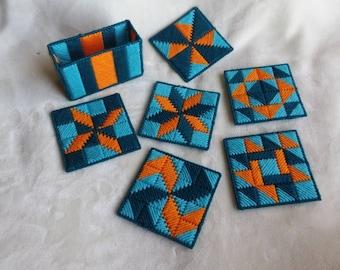 7 piece Handmade Coaster Set