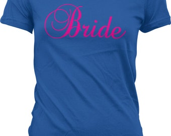 Pink Bride, Bachelorette Party, Wedding Juniors T-shirt, NOFO_00319