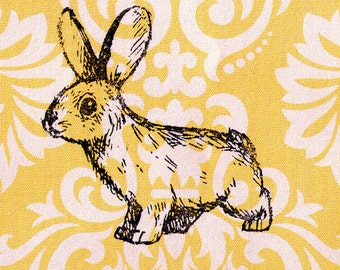 Rabbit Stamp: Wood Mounted Rubber Stamp