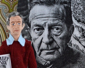 John Cheever Author Writer Doll Miniature by Uneek Doll Designs