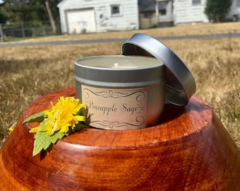 Pineapple Sage All Natural Handmade Soy Candle