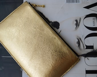 Purse Leather Gold