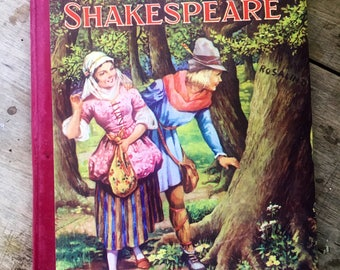 Shakespeare, Lamb's tales from Shakespeare, Birn Brothers, children's Shakespeare, vintage Shakespeare, Romeo and Juliet, Shakespeare annual