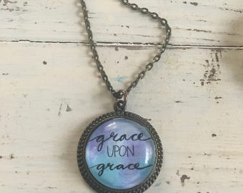 Grace Upon Grace Pendant Necklace