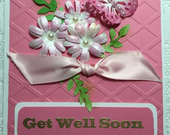 Get Well Soon, Cards, Elegant, Feminine, Handmade, Beautiful