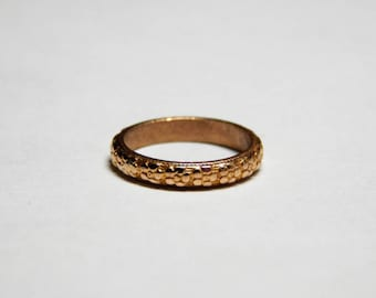 Victorian Estate 10K Yellow Gold Poesy Flower Baby Ring - Posey Flower Eternity Band - Vintage Estate Gold Baby Ring - 10K Gold Posy Ring