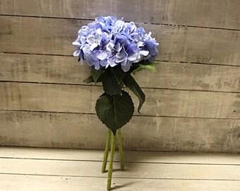 Faux Blue 3 Head Hydrangea Bouquet